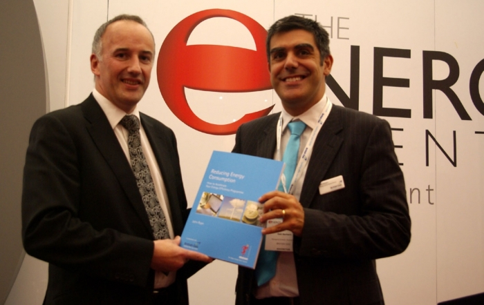 Dr. John Ryan, Director of Services, Certification Europe and Mr. Gabriele Barbaro, Managing Director, British Gas Business Services