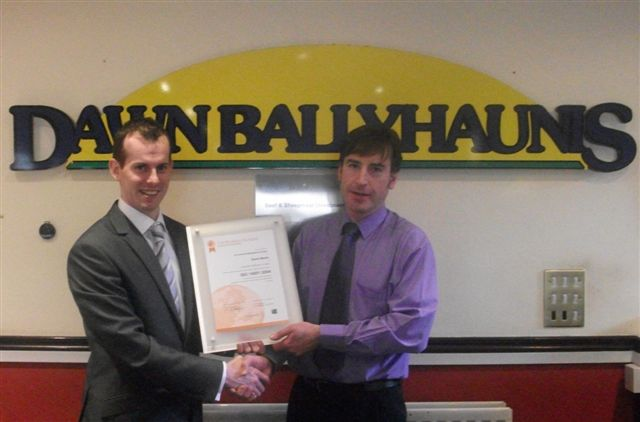 L/R - Ciaran O'Malley, Business Development Manager, Certification Europe and Russell Glover, Environmental Manager, Dawn Meat, Ballyhaunis