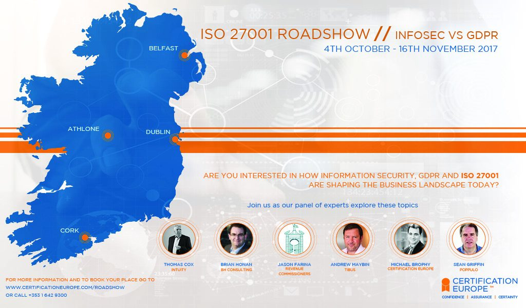 Certification Europe ISO 27001 Roadshow